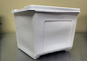 All of your ingredients are contained inside of this innovative bio-degradable container