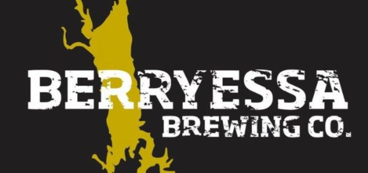 Berryessa Brewing Company logo with black background