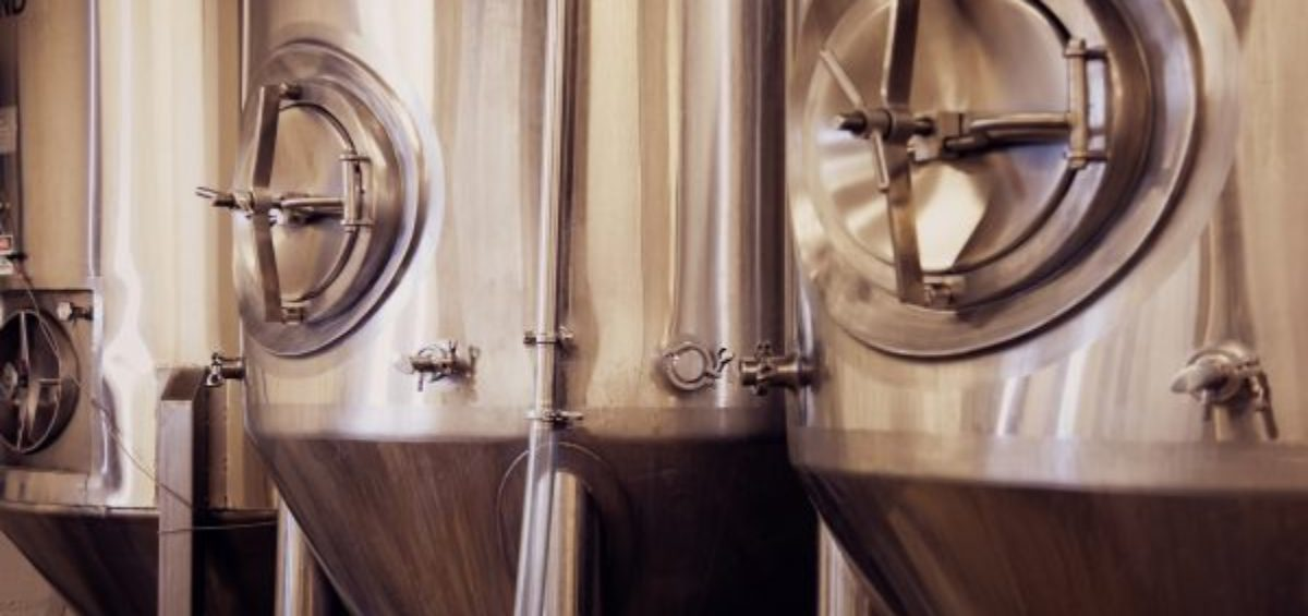 Fermenting tanks at a microbrewery.