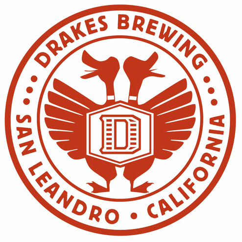 Drakes Brewing Company red circle logo with ducks