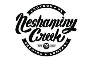 Neshaminy Creek Brewing circular logo in black and white