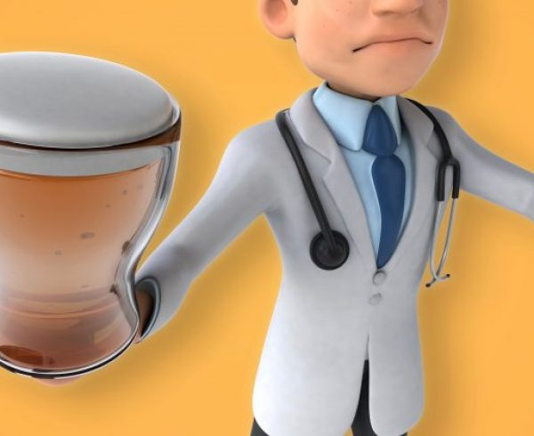 Dr. Homebrew beer doctor cartoon