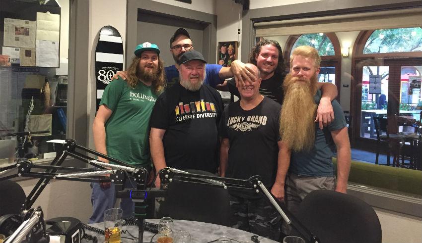 Brewing Network hosts in studio with Steve Luke