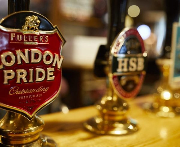 Fullers London Pride tap handle with others in background
