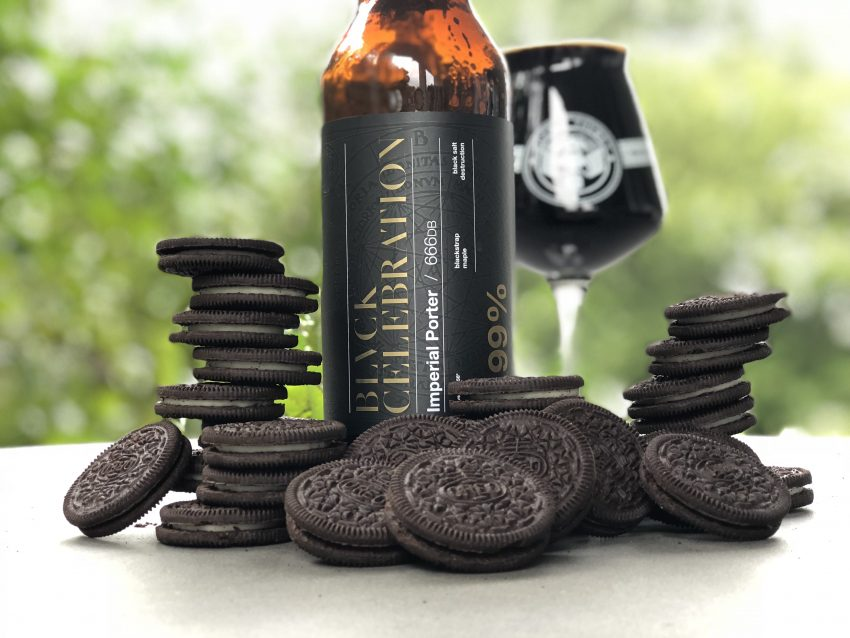 Adroit Theory Brewing Company bottle with Oreo Cookies