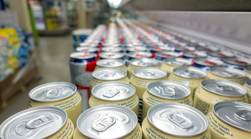 aluminum cans on the market