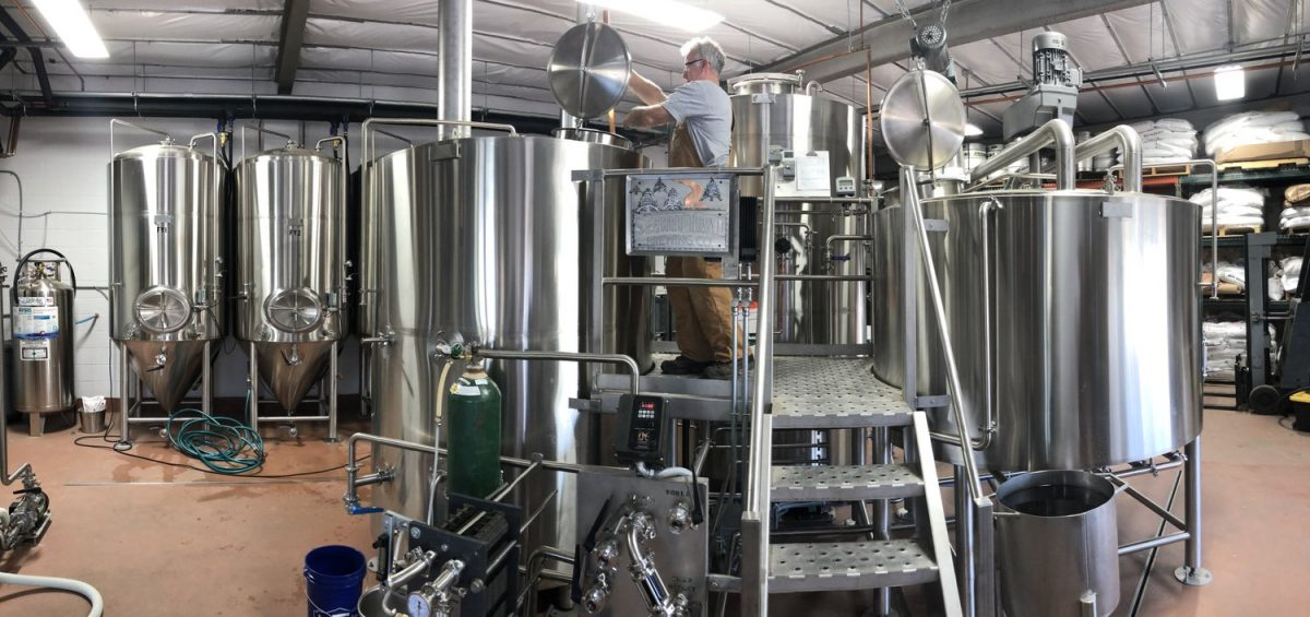 Secret Trail Brewing Company stainless brewhouse