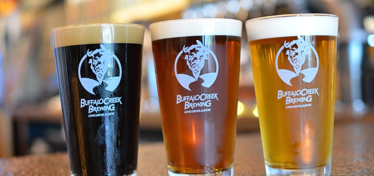 Buffalo Creek Brewing 3 beers