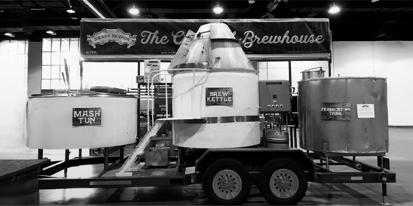 Sierra Nevada Brewing Company original brewhouse on trailer