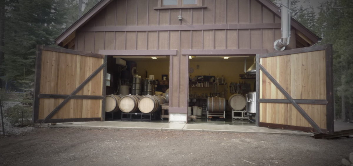 The Ale Apothecary picture of barn with barrels