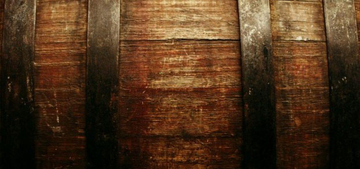 Vintage texture - oak barrel closeup