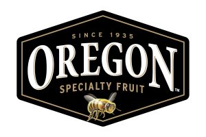 Oregon Specialty Fruit logo with honey bee