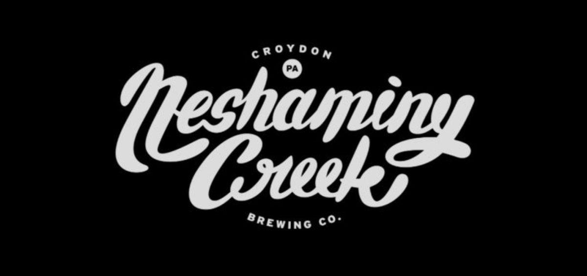 Neshaminy Creek Brewing logo white on black