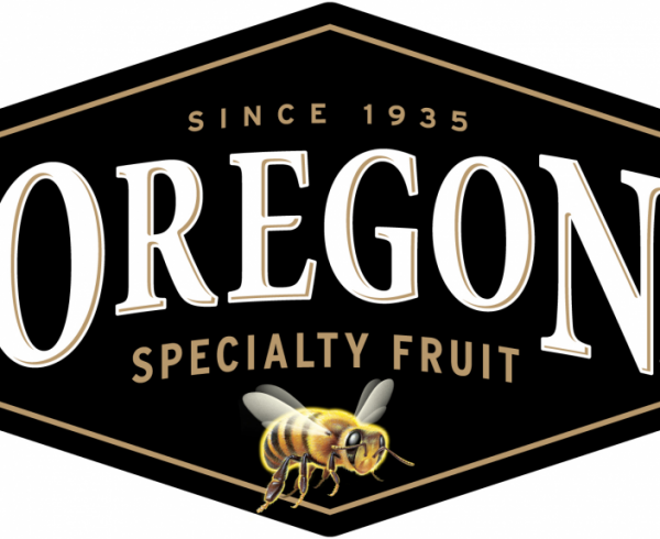 Oregon Specialty Fruit logo with bumble bee