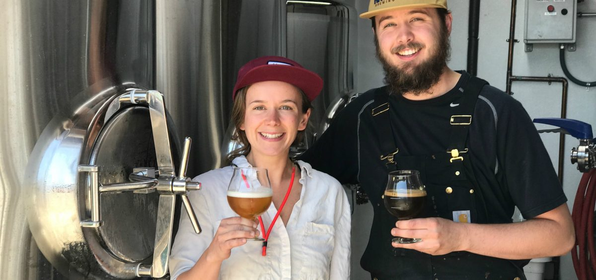Alex and Gregory Zobel in from Armistice Brewing Company