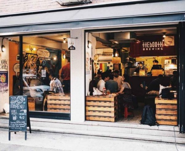 The Booth Brewing Co. Seoul location storefront