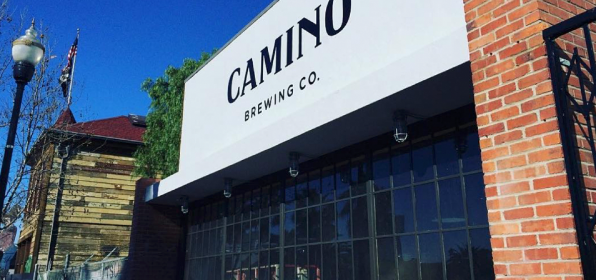Camino Brewing Company exterior wall and sign