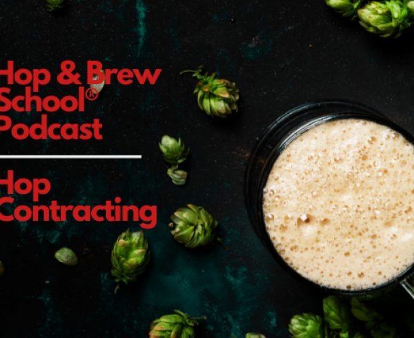 Hop Contracting text on beer background