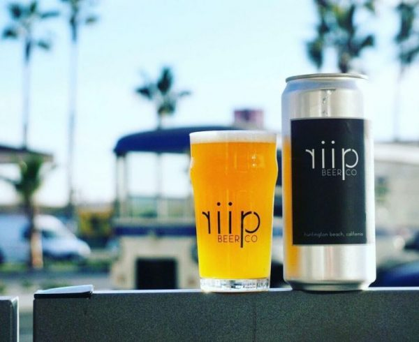 Riip Beer Company beer in can and glass