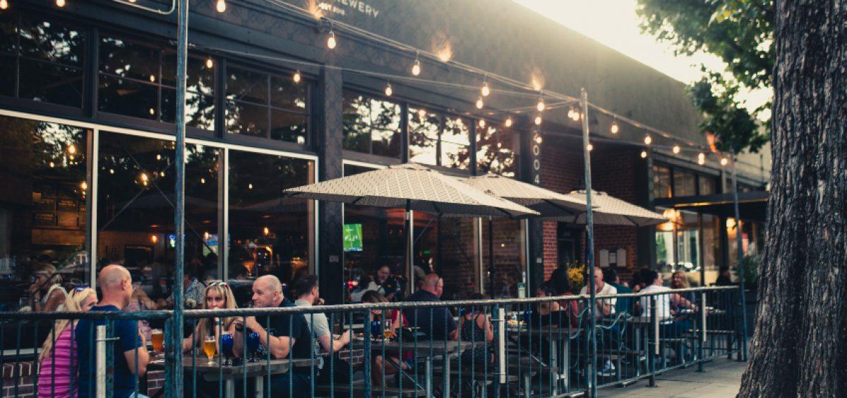 Alaro Craft Brewery front patio