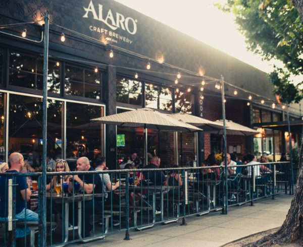 Alaro Craft Brewery front patio